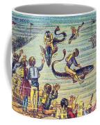 Underwater Race, 1900s French Postcard Coffee Mug