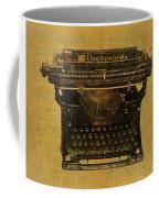 Underwood Typewriter On Text Coffee Mug