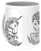Unicorn And Fairy Cameo Set Coffee Mug