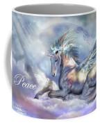 Unicorn Of Peace Card Coffee Mug