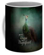 Unique And Magnificent - Peacock Art Coffee Mug