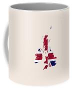 United Kingdom Map Art With Flag Design Coffee Mug