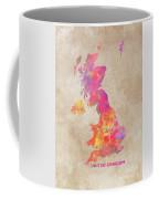 United Kingdom Map Coffee Mug