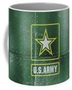 United States Army Logo On Green Steel Tank Coffee Mug