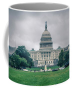 United States Capitol Building On A Foggy Day Coffee Mug