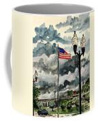 United States Flag Over Alabama Coffee Mug
