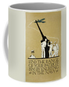 United States Navy Recruitment Poster From 1918 Coffee Mug