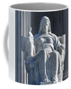 United States Supreme Court, The Contemplation Of Justice Statue, Washington, Dc 3 Coffee Mug