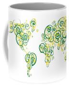 University Of Alberta Colors Swirl Map Of The World Atlas Coffee Mug