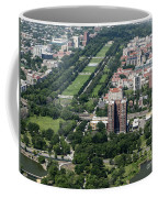 University Of Chicago Booth School Of Business And Midway Plaisance Park Aerial Photo Coffee Mug