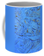 Untitled-weathered Wood Design In Blue Coffee Mug