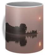 Silky Pink Sunrise - Soft Fog Shimmer On The Lake Coffee Mug