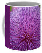 Up Close On Musk Thistle Bloom Coffee Mug