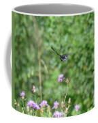 Up, Up And Away-black Swallowtail Butterfly Coffee Mug