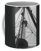 Up Whitefish Point Gryascale Coffee Mug