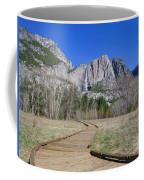 Upper Yosemite Fall And The Trail Coffee Mug