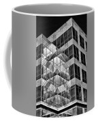 Urban Abstract - Mirrored High-rise Building In Black And White Coffee Mug