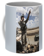 U.s. Air Force Member Calls For Air Coffee Mug by Stocktrek Images