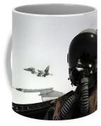 U.s. Air Force Pilot Takes Coffee Mug