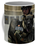 U.s. Air Force Soldier Giving Coffee Mug by Stocktrek Images