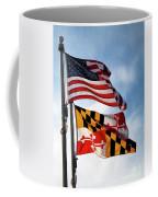 Us And Maryland Flags Coffee Mug
