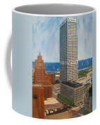 Us Bank And Sailboats Coffee Mug