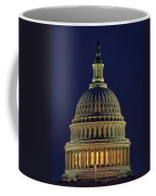 U.s. Capitol At Night Coffee Mug