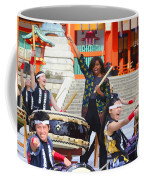 U.s. First Lady Michelle Obama  Plays The Taiko Drum  Coffee Mug