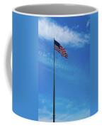 Us Flag At Liberty Island Coffee Mug