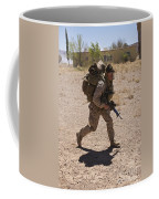 U.s. Marine Runs To The Uh-60 Black Coffee Mug