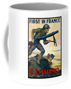 Us Marines - First In France Coffee Mug