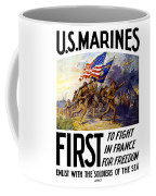 Us Marines - First To Fight In France Coffee Mug