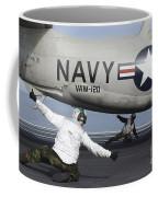 U.s. Navy Sailors Give The Thumbs Coffee Mug by Stocktrek Images
