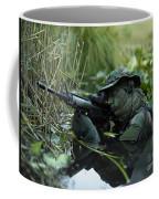 U.s. Navy Seal Crosses Through A Stream Coffee Mug