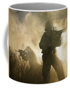 U.s. Navy Seals During A Combat Scene Coffee Mug