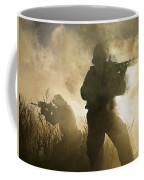 U.s. Navy Seals During A Combat Scene Coffee Mug by Tom Weber