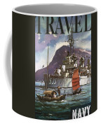 U.s. Navy Travel Poster Coffee Mug