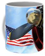 Usa Flag Bomber Wwii  Coffee Mug