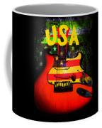 Usa Guitar Music Coffee Mug
