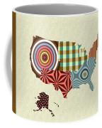 Usa Map Coffee Mug