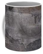 Usa Map Outline On Concrete Wall Slab Coffee Mug