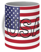 Usa On The American Flag Coffee Mug