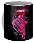 Usa Pink Strat Guitar Music Coffee Mug