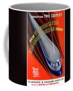 Usa The Comet Vintage Travel Poster Restored Coffee Mug