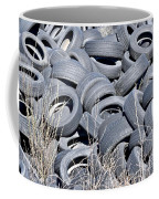 Used Tires At Junk Yard Coffee Mug