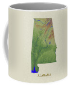 Usgs Map Of Alabama Coffee Mug