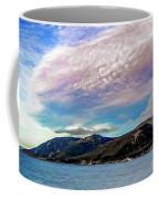 Ushuaia, Ar, Clouds Over Mountains Coffee Mug