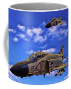 Usn F-4 Phantom II Over Vietnam - Oil Coffee Mug