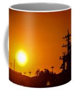 Uss Carl Vinson At Sunset 3 Coffee Mug