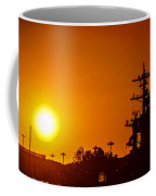 Uss Carl Vinson At Sunset 3 Coffee Mug